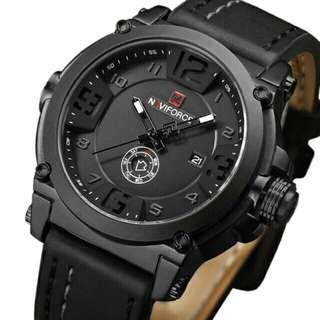NAVIFORCE Mens Watches Top Brand Luxury Sport Leather Men Waterproof Wristwatch