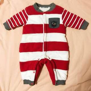 Chickeeduck fleece 全棉 baby jumpsuit