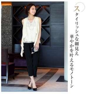 日本 RUIRUE BOUTIQUE 結婚 兩件式 洋裝 連身褲