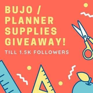 🚚 🎁 GIVEAWAY PLANNER / BUJO STICKERS / SUPPLIES