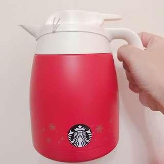 Starbucks Christmas Red Thermal Kettle 1000ml