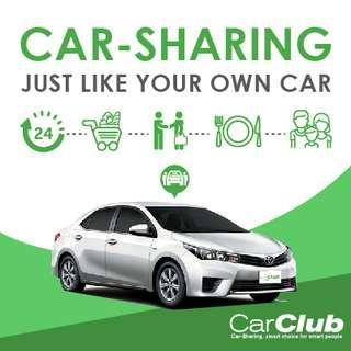 Mazda Renault Honda and many more with Car-Sharing