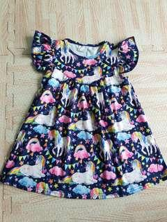 Baby Girl unicorn Dress