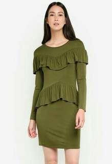 Zalora Ruffle Front Dress