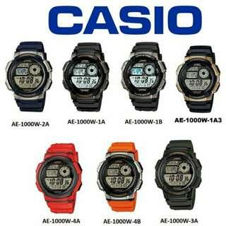 ORIGINAL CASIO (2YEARS WARRANTY) AE-1000W SERIES MEN,UNISEX DIGITAL SPORT