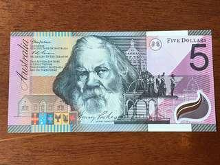 Australia $5 AA 01 2001 COMMEMORATIVE Centenary of Federation UNC