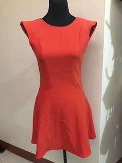 Tomato Red Orange Dress