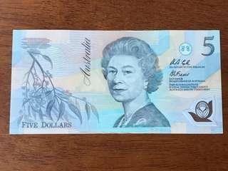Australia $5 Polymer 1992 AA 84 Fraser/Cole UNC