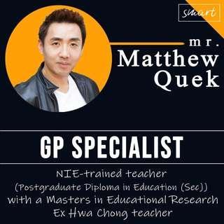 Ex school teacher General Paper H2 GP Home Tuition