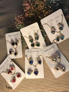 Instock Necklace Earring Ring Set