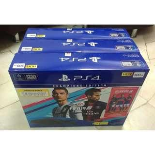 "New ps4 bundle set by Sony Playstation -FIFA 2019 ""CHAMPIONS EDITION"""
