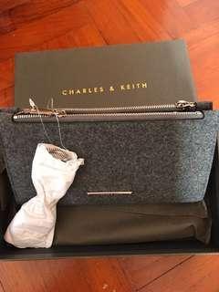 Charles & Keith Long Wallet grey