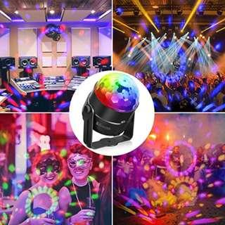 P11 Disco Ball Light SOLMORE Disco Lights RGB 5W Party Lights Color Changing Sound Activated Effect Crystal Magic Rotating Ball Lights for Children Home Birthday Party Karaoke Club Christmas Festival