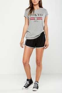 Cotton On Black Runner Shorts