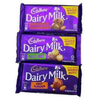 Cadbury Dairy Milk Chocolate (3pcs for $10.00)