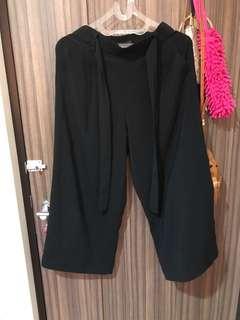 ZARA trafaluc collection basic black culotte size XS