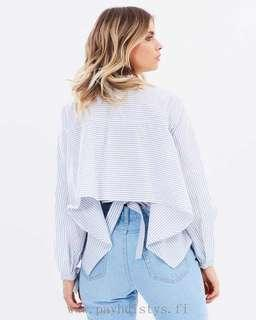 Harla button up shirt with pinstripes