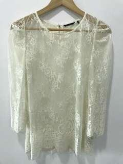 Off white Lace Top