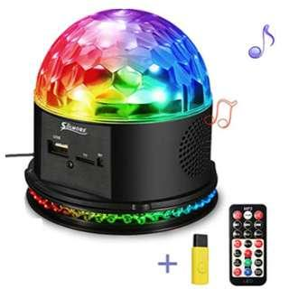 P11 SOLMORE Disco Lights for Parties Sound Activated Strobe Light Disco Ball Dj Lights 7Colors Disco Party Lights Show for Parties Wedding DJ Karaoke Outdoor Gift with Remote