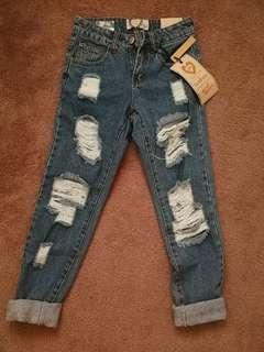 Boyfriend ripped denim jeans - tag still on