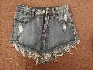 Distressed high waist Denim shorts - new without tags