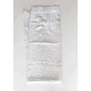 White Curtain Sheer RM15 per pc