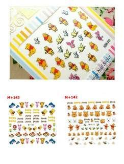 Winnie the Pooh nail stickers