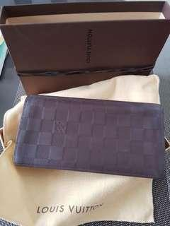 968051720db Preloved Louis Vuitton soft leather long wallet - brown