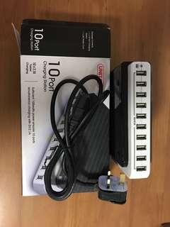 10 port charging station