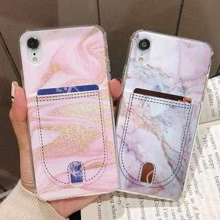 Marble Card Slot Phone Case