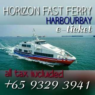 (All In) HORIZON FAST FERRY TO BATAM HARBOURBAY 2 WAYS ALL TAX INCLUDED ALL PASSPORT