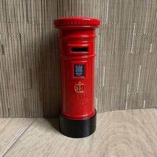 香港殖民地時期皇冠圓柱形郵筒 金屬錢箱