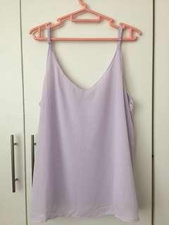 cotton on purple spaghetti strap top