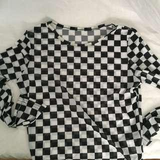 Checkered mesh top (insta baddie vibes)