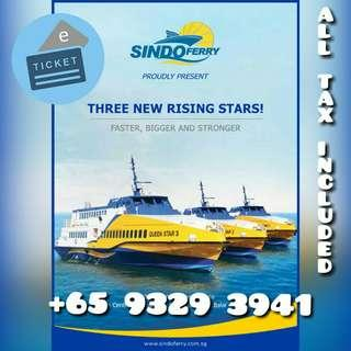 (All In) SINDO FERRY TICKET TO BATAM 2 WAYS ALL TAX INCLUDED