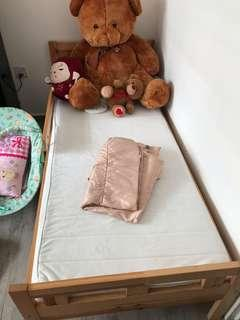 Lightly used Ikea kids bed frame and mattress