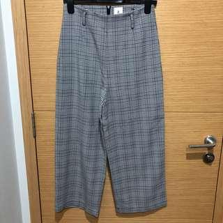 AFA CARYN BELTED CHECKERED CULOTTES