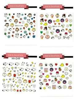 4 designs! Snoopy nail art