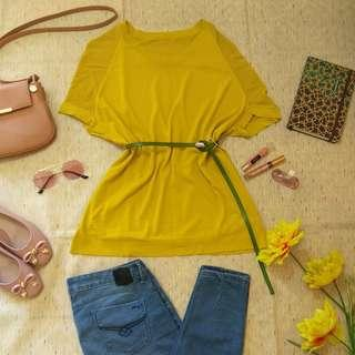 HQ Knitted Yellow Green Top