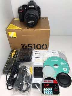 🚚 Nikon D5100 18-55mm + UV 公司貨 單眼相機 DSLR