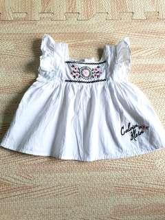 Baby girl top with embroidery