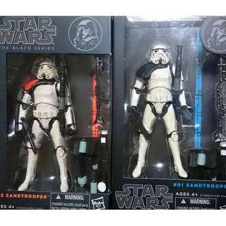 Star Wars MISB The Black Series Set of 2 Sandtrooper Sand Trooper (NEAREST MRT)