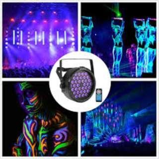 P12 UV Black Light SOLMORE 36W 36 LEDs Bar Ultra Violet LED Flood Light Wall Washer