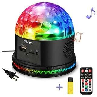 P12 SOLMORE Disco Lights for Parties Sound Activated Strobe Light Disco Ball Dj Lights 7Colors Disco Party Lights Show for Parties Wedding DJ Karaoke Outdoor Gift with Remote