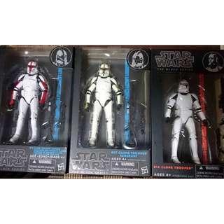 Star Wars MISB The Black Series Clone Trooper + Sergeant + Captain (NEAREST MRT)