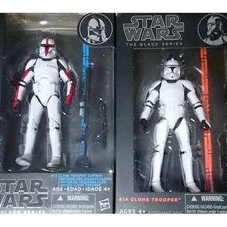 Star Wars MISB The Black Series Clone Trooper + Captain 6 inch (NEAREST MRT)