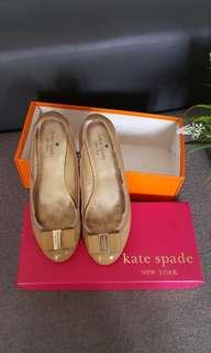 Kate Spade Tock flats Camel vintage patent size 7,5 (38)