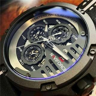 NAVIFORCE 9110 Men's Fashion Sports Watch Waterproof  Creative Quartz Watch+Box