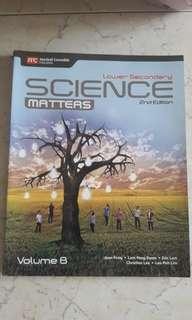 Science Matters Lower secondary Volume A and B.
