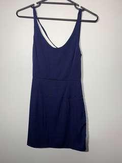 Tobi navy blue shirt dress